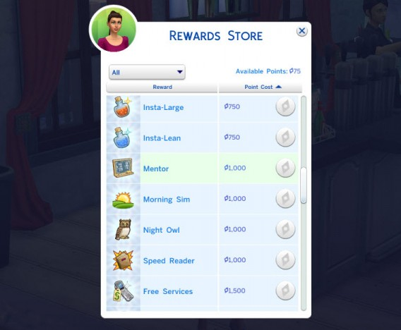 The-Sims-4-Rewards-Store