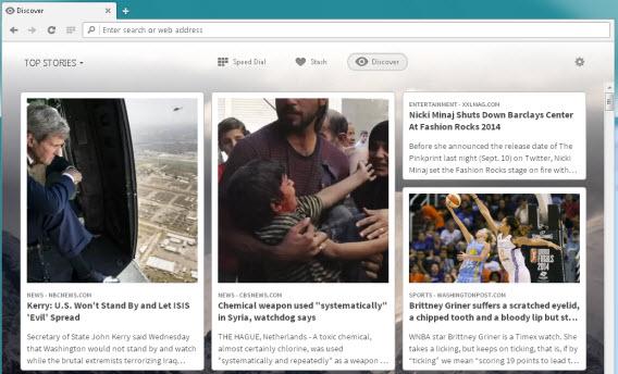Opera Discover: une sélection d'articles au goût de chacun