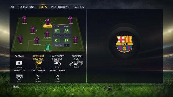 FIFA 15 roles