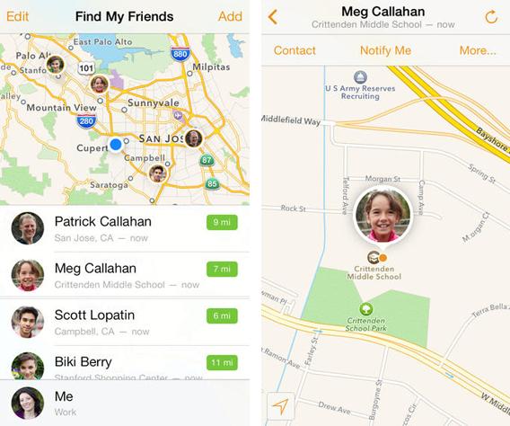 Localiser mes amis iOS