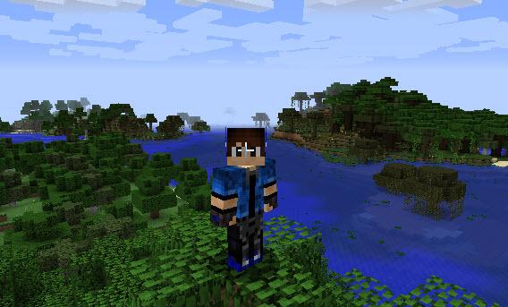 Agora você é um garotão alegre e ousado no Minecraft
