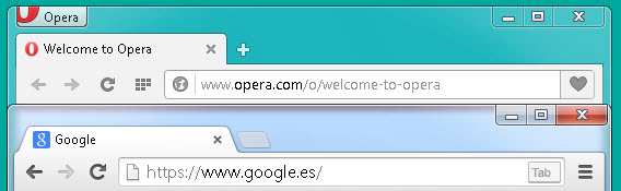 Visual do Opera é mais clássico que o Chrome