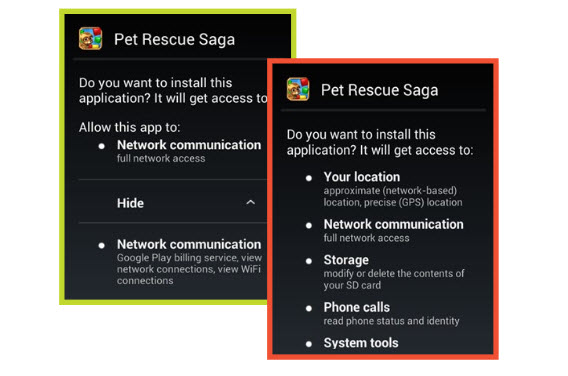 Pet Rescue Saga, la vraie et la fausse