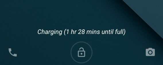 Android Lollipop - Charging time left in lockscreen