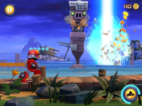 Angry Birds Transformers: viser aussi les structures en second plan