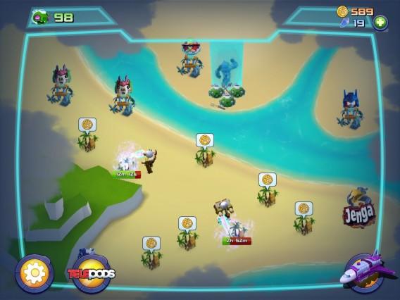 Angry-Birds-Transformers - colete os bônus no mapa