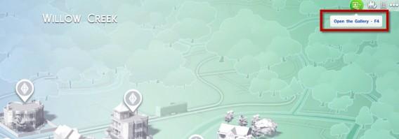 Les Sims 4: Ouvrir la galerie des Sims