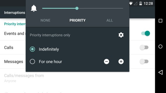 Android Lollipop - Filtre des notifications