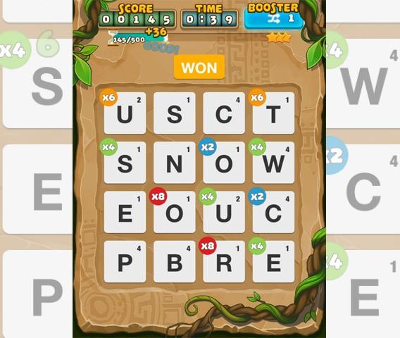 Ruzzle Adventure: utilisez les multiplicateurs