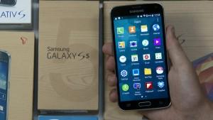 Vídeo de Android L Touchwiz en un Samsung Galaxy S5