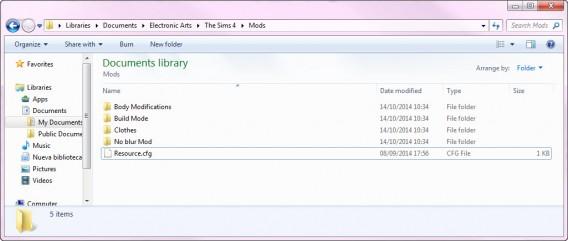 Sims-4-Mods-Folder-Folders
