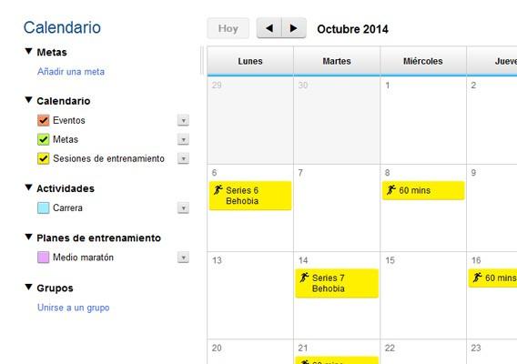 Calendario carrera