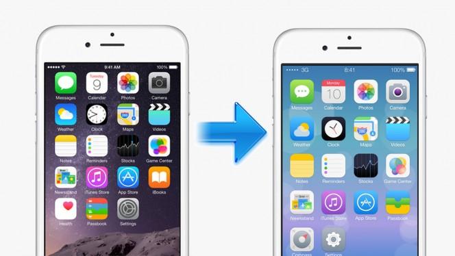 iOS: cómo pasar de una versión nueva a una más antigua