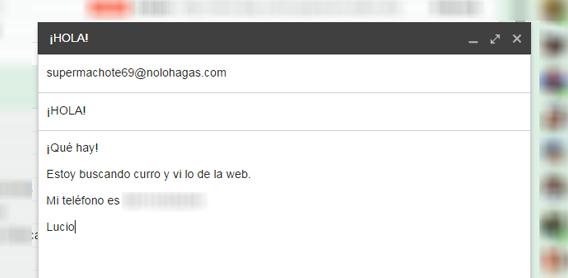 correo electrónico sin etiqueta online