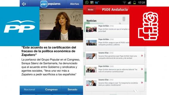 Apps de PP y PSOE