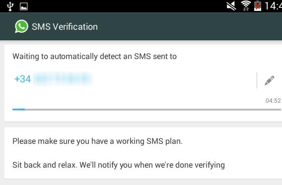 WhatsApp aktivieren