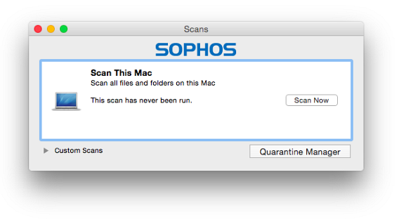 Sophos for Mac v9