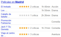 Peliculas en Madrid