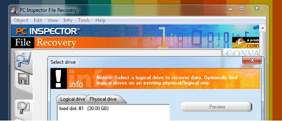 Inspector File recovery recuperación de archivos eliminados