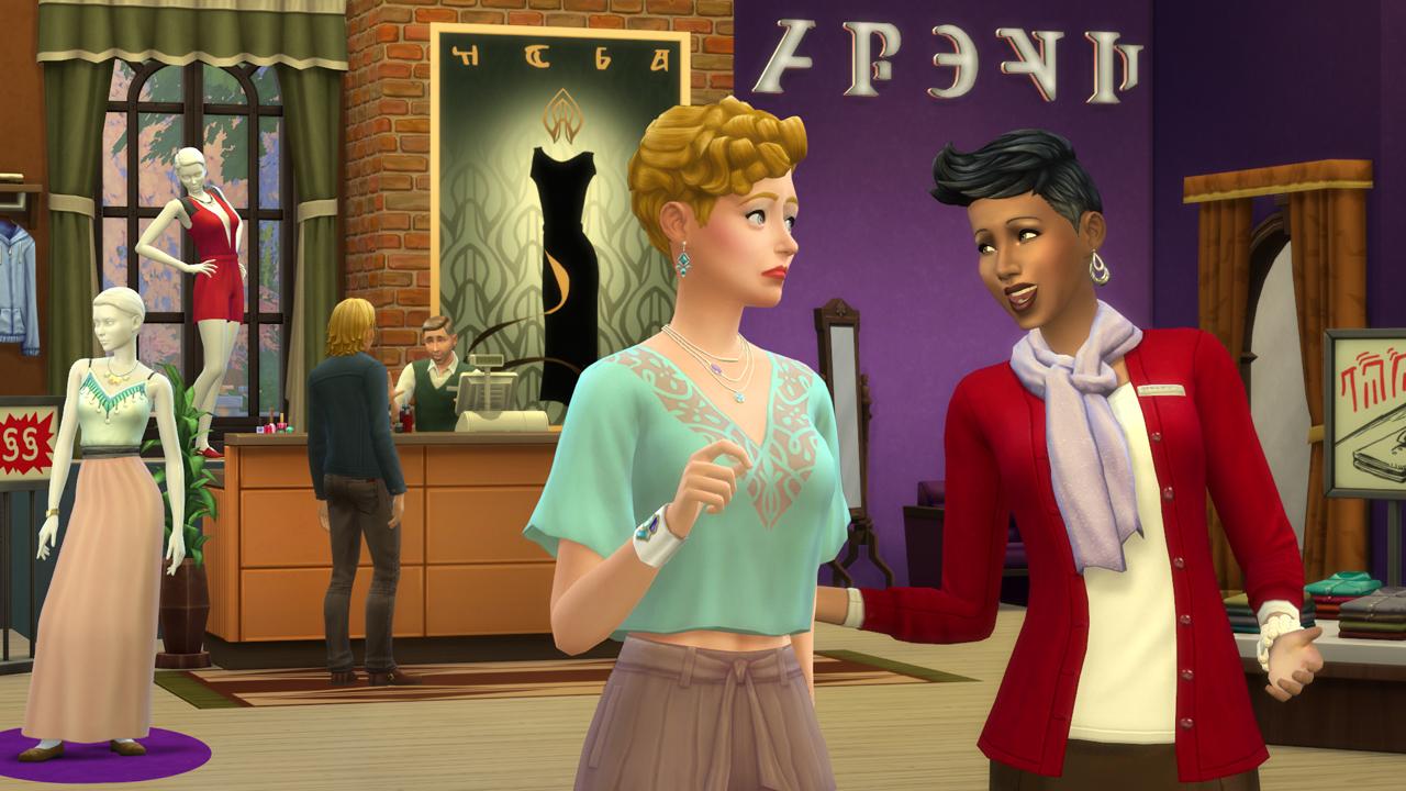 Ten tu propia tienda en Los Sims 4