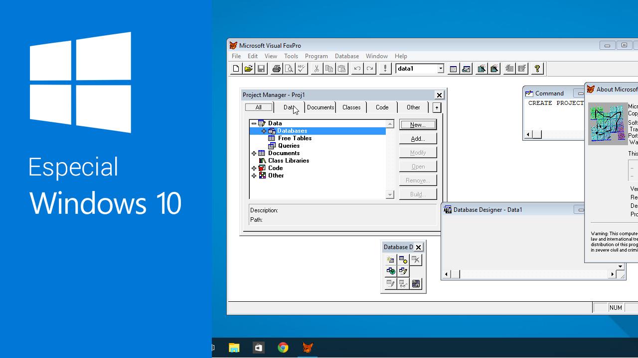 Cómo abrir programas antiguos en Windows 10