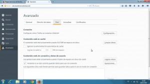 Cómo limpiar la caché en Firefox