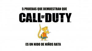5 motivos que demuestran que Call of Duty ha empeorado por culpa de los niños rata