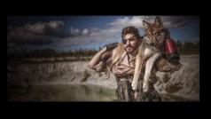 El mejor cosplay de Metal Gear Solid 5 incluye un lobo de verdad