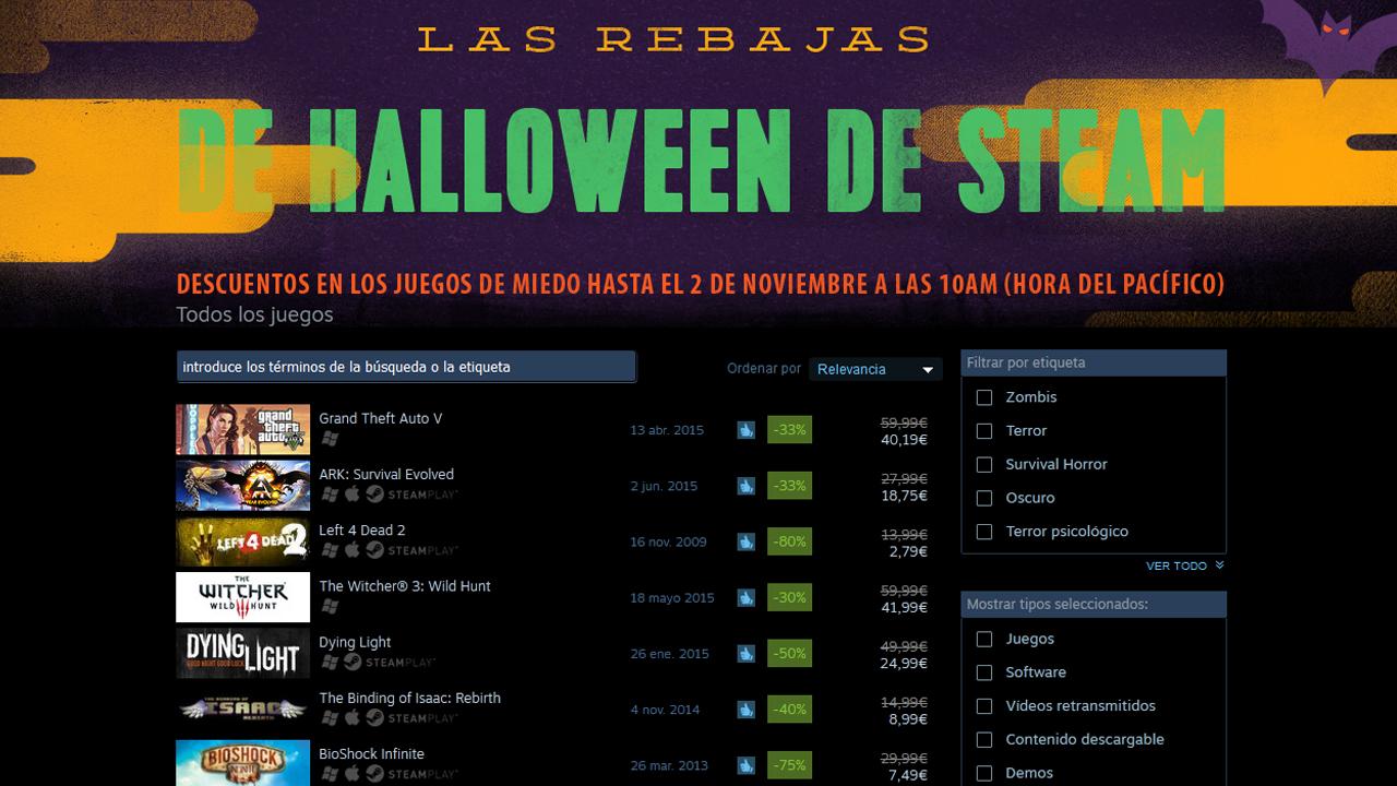 Rebajas de Halloween en Steam: hazte con GTA V y juegos de terror a mejor precio