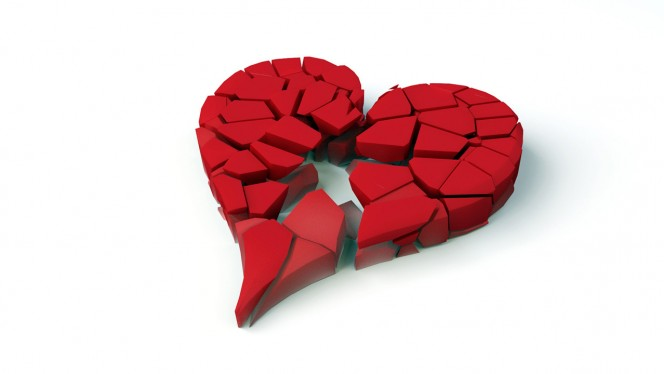 Broken heart desktop wallpaper 1280×720