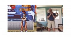 Un papá adorable recrea las poses de victoria de Street Fighter