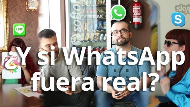 ¿Y si WhatsApp existiera en la vida real?