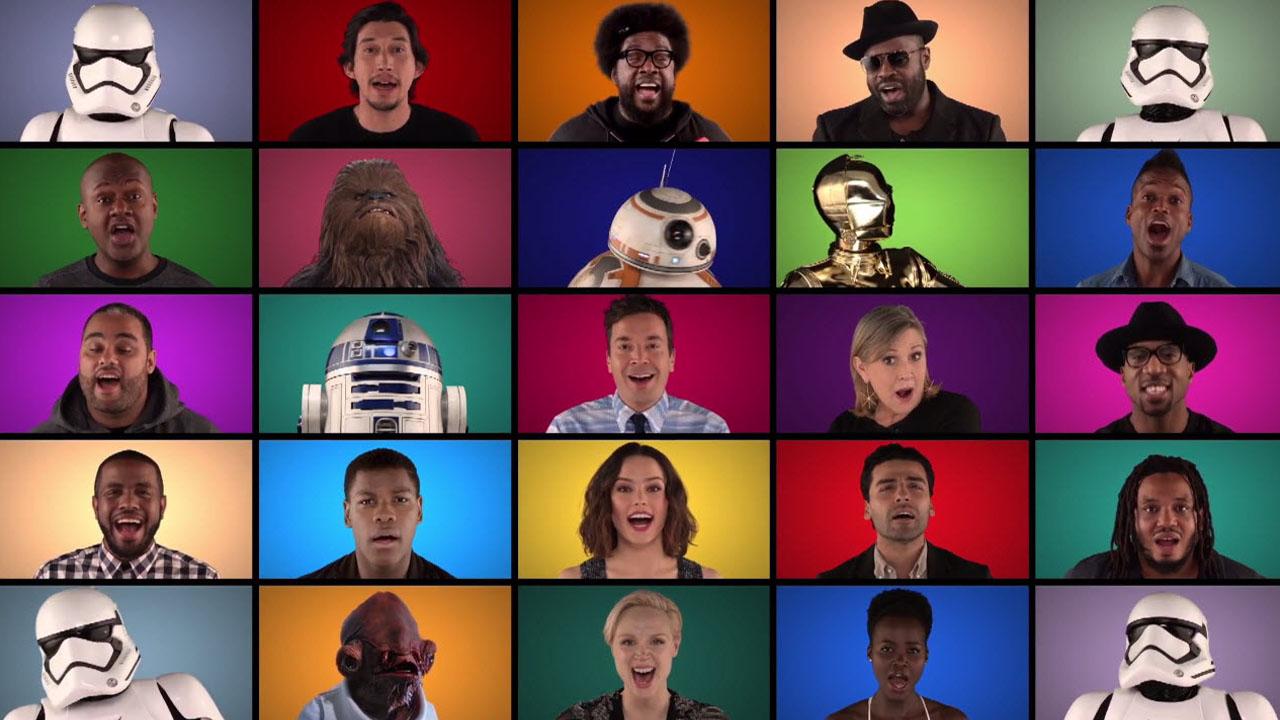 Star Wars 7: un divertido vídeo une a todos los protagonistas… ¡cantando!
