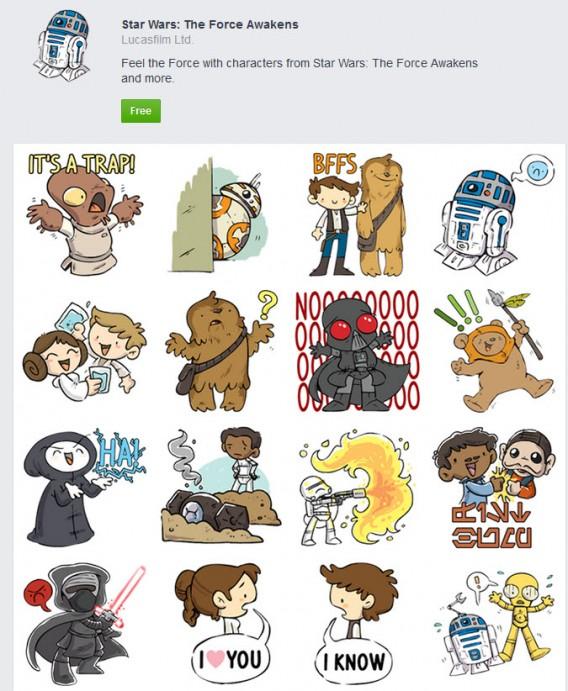 Stars Wars 7: descarga gratis los stickers para tus chats de Facebook