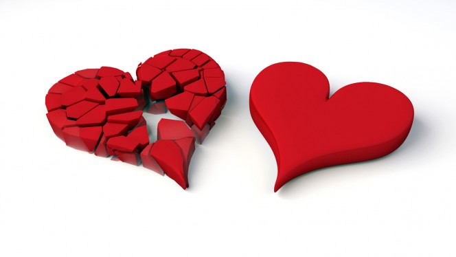 Heart broken creative wallpaper 1280×720