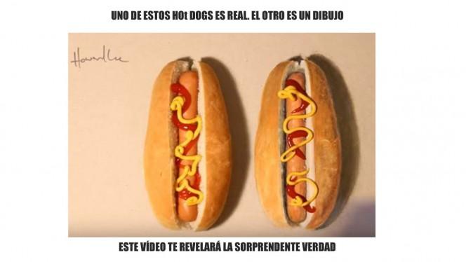 Esto no es Photoshop: uno de estos hot dogs no es real, ¿sabes adivinar cuál?