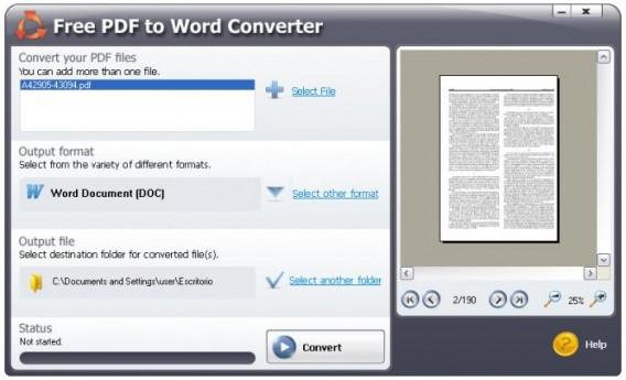 como convertir un pdf a word gratis