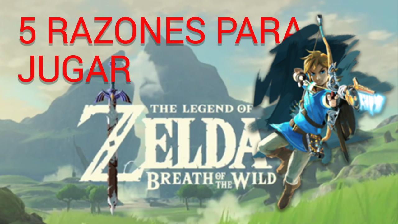 Los 5 indiscutibles motivos por los que jugarás a Legend of Zelda: Breath of the Wild
