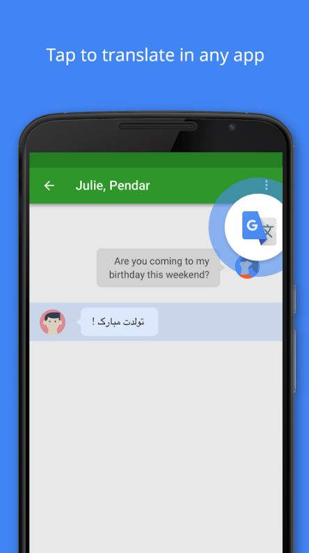 How to translate instantly within WhatsApp and Facebook Messenger