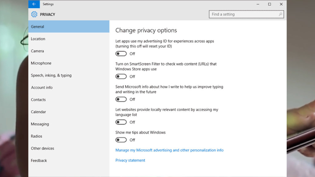 intrusivo windows 10 privacidad