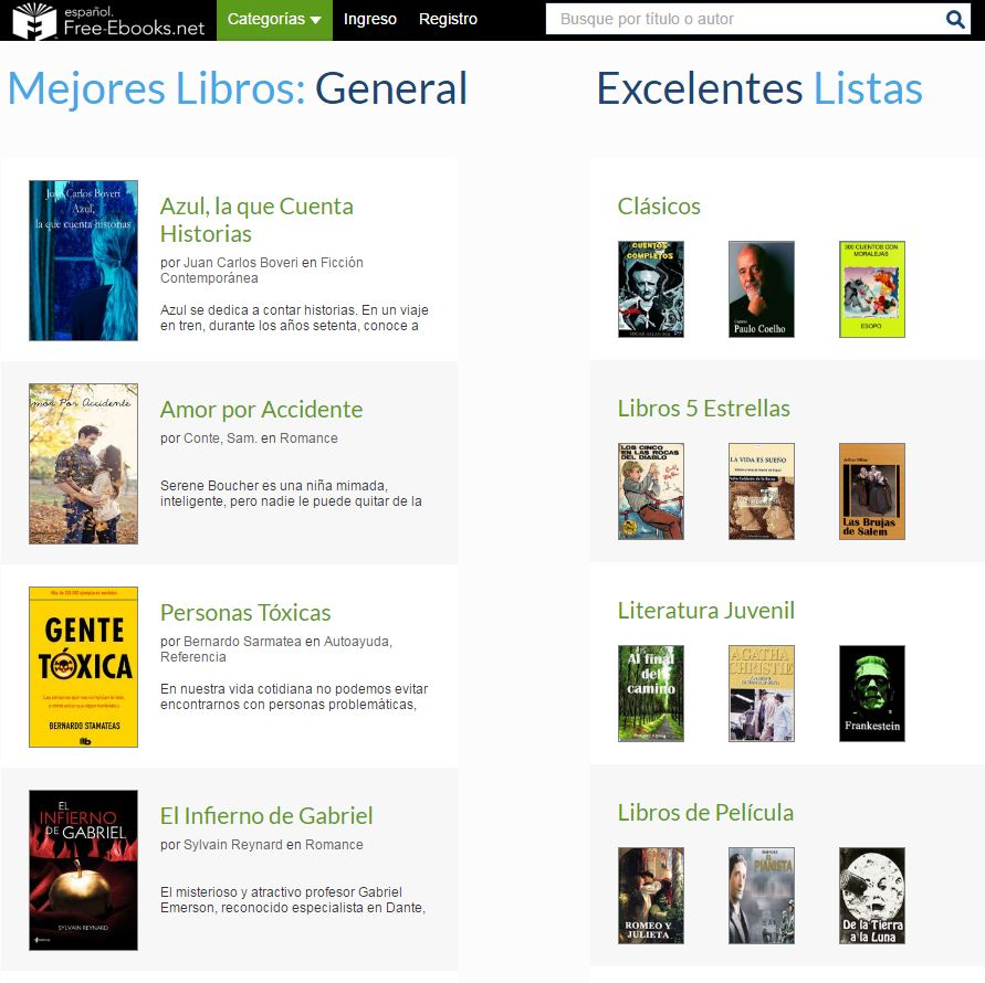 Descargarse libros gratis - Free ebooks