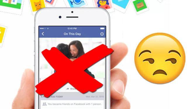 """Facebook: cómo eliminar para siempre personas y fechas de """"Un día como hoy"""""""