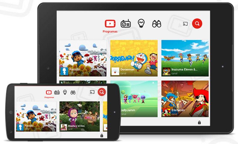 youtube-kids películas y series gratis para niños