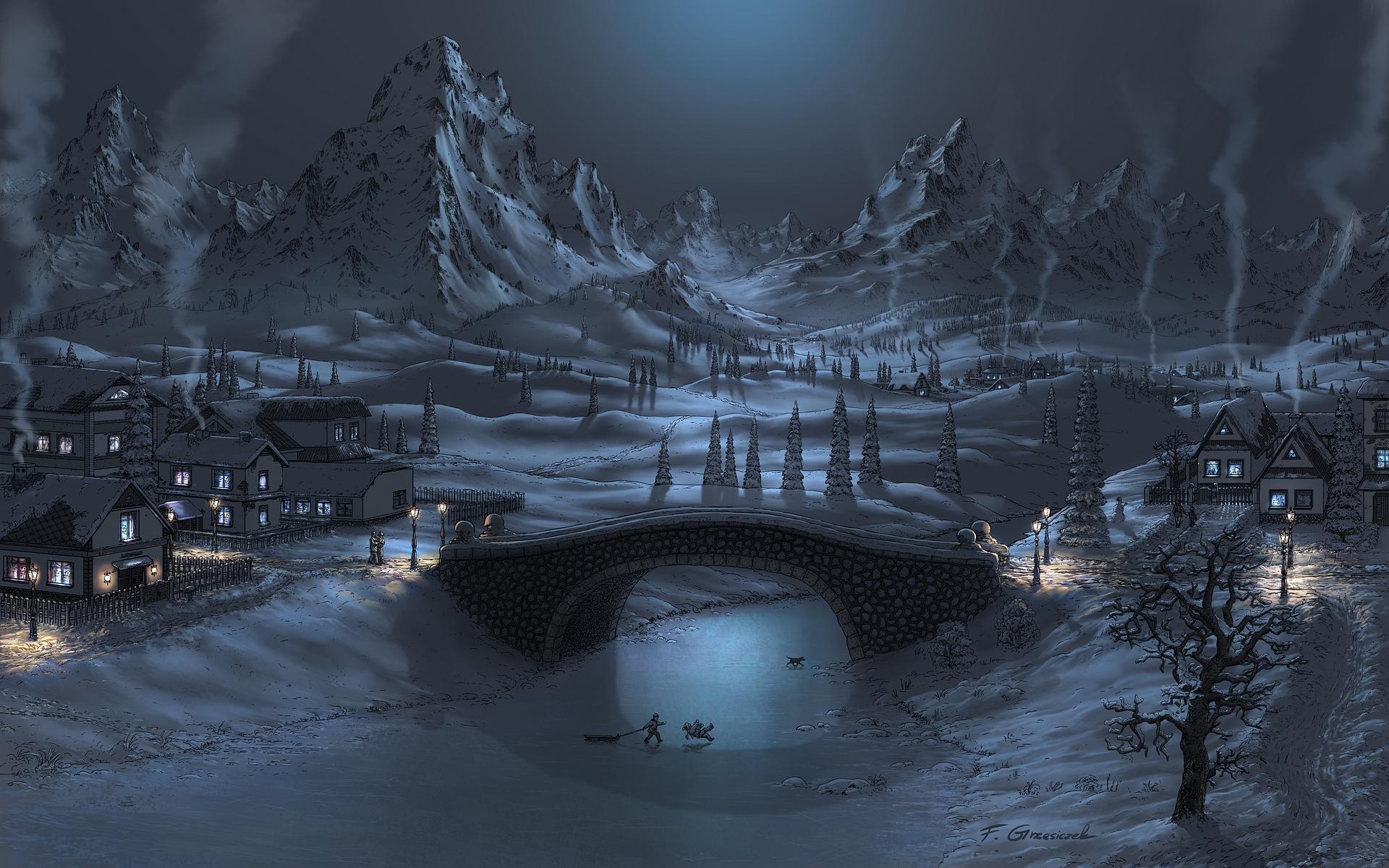 fondo de escritorio paisaje nevado
