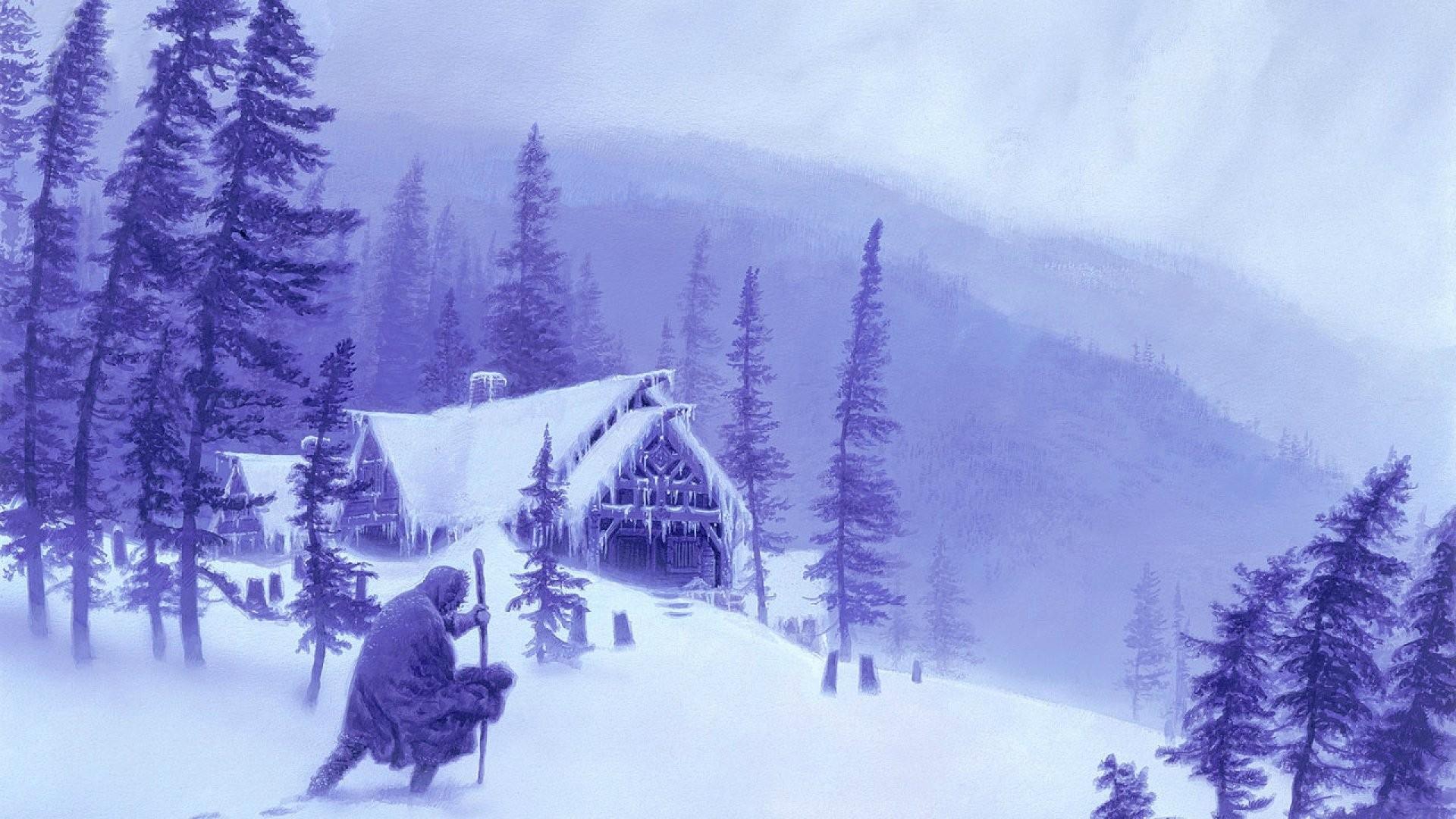 paisaje nevado imagen de fondo de pantalla