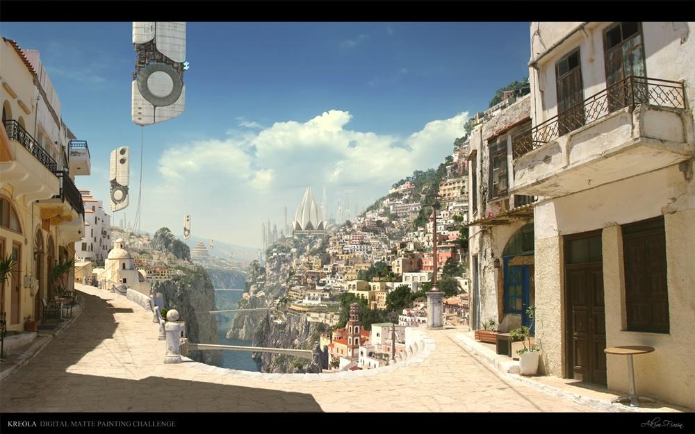 ciudad futurista fondo de pantalla