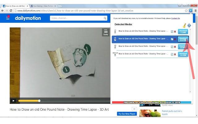 extensión para descargar vídeos de internet - FBDown Video Downloader