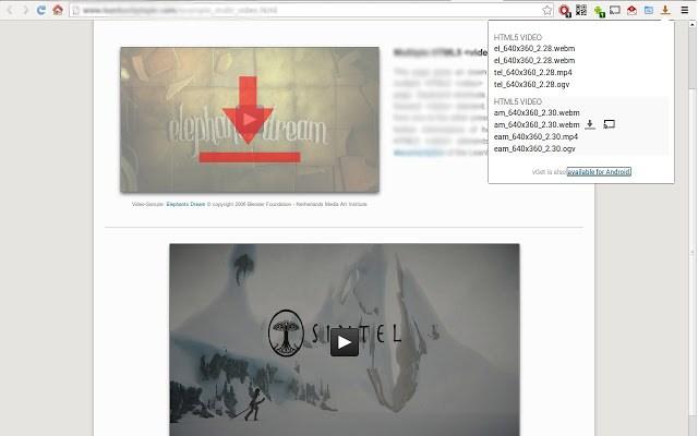 Bajar vídeos de internet - vGet Extension
