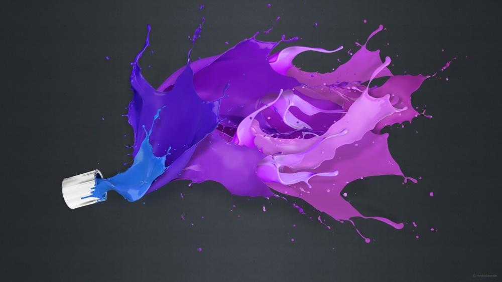 bote de pintura derramada fondo de escritorio