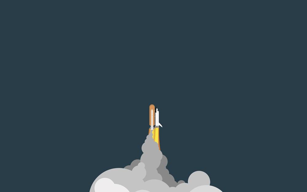 imagen de cohete despegando fondo de escritorio
